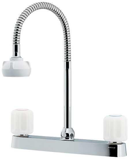 カクダイ[KAKUDAI]キッチン用2ハンドル混合栓(シャワー付き)151-008[一般地仕様][送料無料]
