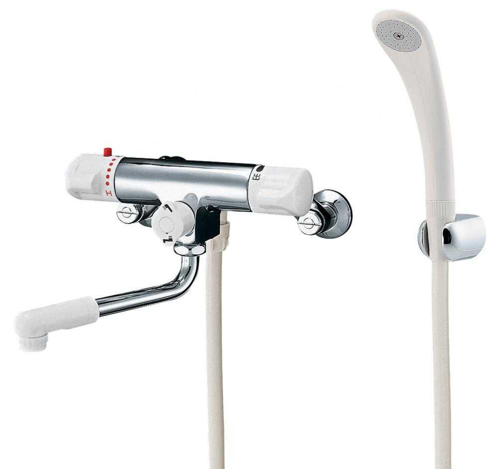 カクダイ[KAKUDAI]浴室用水栓サーモスタットシャワ混合栓(逆配管)173-132K[寒冷地仕様]【送料無料】