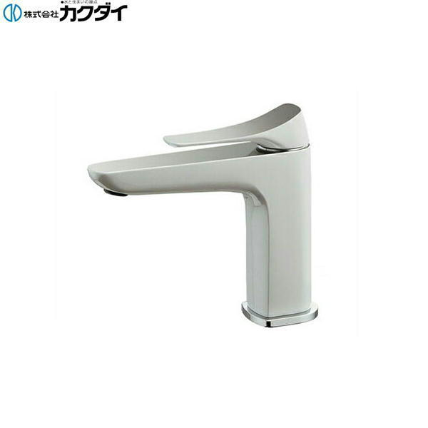 [183-181]カクダイ[KAKUDAI]シングルレバー混合栓[一般地仕様][白塗装仕上げ][送料無料]