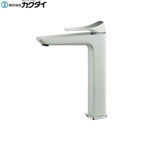 [183-185GN]カクダイ[KAKUDAI]シングルレバー混合栓[トール][白塗装仕上げ][送料無料]