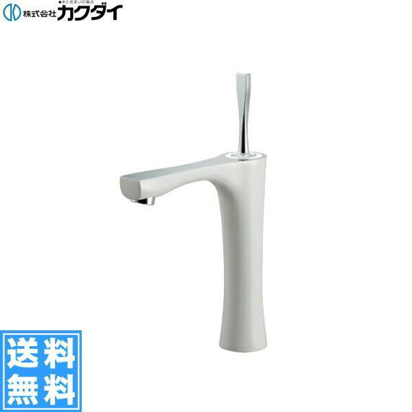 [183-256GN]カクダイ[KAKUDAI]シングルレバー混合栓[ミドル][ホワイト]【送料無料】