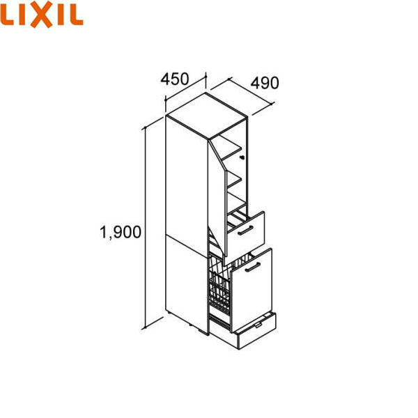 リクシル[LIXIL/INAX][PIARAピアラ]トールキャビネットAR1S-455DL(R)[間口450mm]【送料無料】