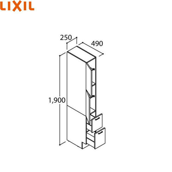 [ARS-255]リクシル[LIXIL/INAX][PIARAピアラ]トールキャビネット[間口250mm][ミドルグレード]【送料無料】