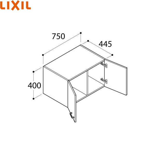 [FTVU-754/VP1]リクシル[LIXIL/INAX][オフト]アッパーキャビネット[間口750]【送料無料】