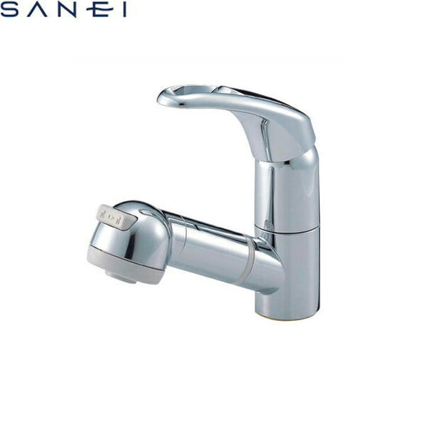 三栄水栓[SAN-EI]シングルスプレー混合栓(洗髪用)K3763JV-C[一般地仕様]【送料無料】