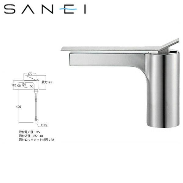 三栄水栓[SAN-EI]シングルワンホール洗面混合栓K4731NJK[寒冷地仕様]