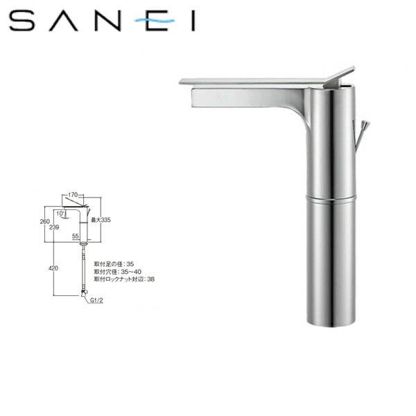 三栄水栓[SAN-EI]シングルワンホール洗面混合栓K4731PJV-2T[一般地仕様]