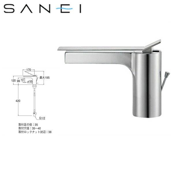 三栄水栓[SAN-EI]シングルワンホール洗面混合栓K4731PJK[寒冷地仕様]