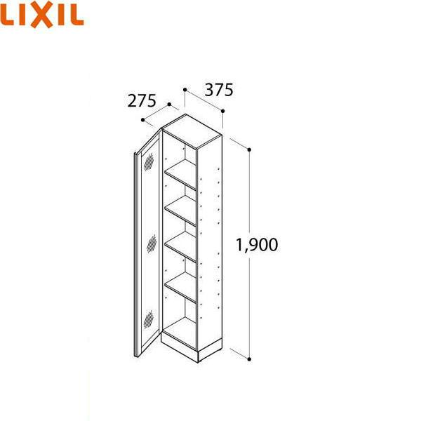 リクシル[LIXIL/INAX]洗面化粧台対面収納キャビネットLCVS-372SANダボ穴なし[間口375mm][送料無料]