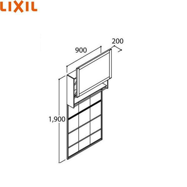 リクシル[LIXIL/INAX]洗面化粧台ファンクションウォール収納タイプLCWS-902W[本体間口900mm][送料無料]