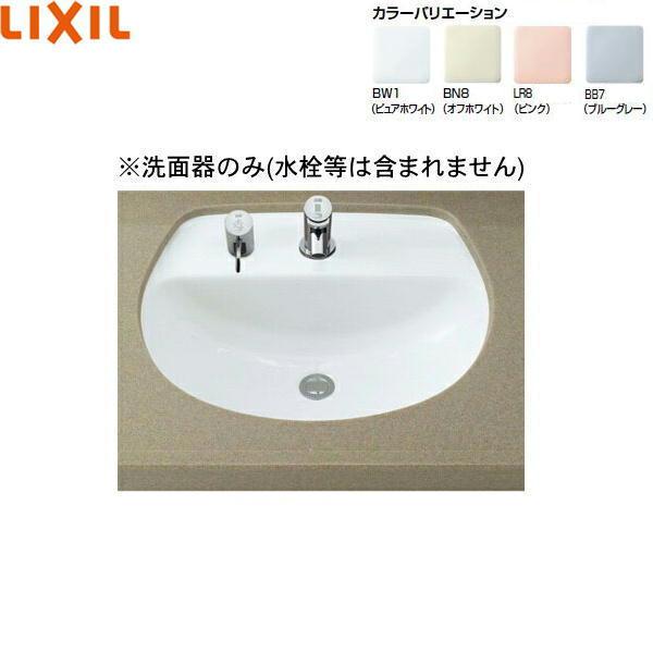 [L-2094]リクシル[LIXIL/INAX]はめ込みだ円形洗面器[アンダーカウンター式][送料無料]