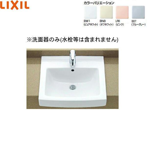 リクシル[LIXIL/INAX]はめ込み角形洗面器[オーバーカウンター式]L-2150【送料無料】