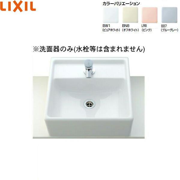 [L-531]リクシル[LIXIL/INAX]角形洗面器[ベッセル・壁付兼用式][送料無料]