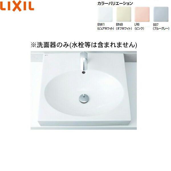 [L-546]リクシル[LIXIL/INAX]角形洗面器[ベッセル式]【送料無料】
