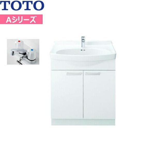 [LDA756BCU]TOTO[Aシリーズ]洗面化粧台[化粧台のみ]間口750mm[2ハンドル混合水栓][送料無料]