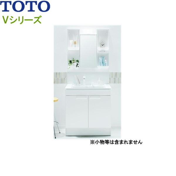 [LDPB075BAGEN1A+LMPB075B1GDC1G]TOTO[Vシリーズ]洗面化粧台[間口750mm][エコシングルシャワー水栓][一般地仕様][ホワイトA][送料無料]