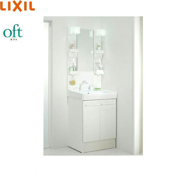 [FTV1N-605SY+MFTX1-601YFJU]リクシル[LIXIL][オフト]洗面化粧台セット[セット間口600][ショートミラー]【送料無料】