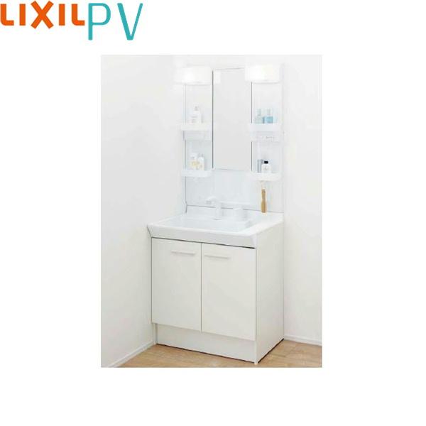 [PV1N-755S(4)Y/VP1H+MPV1-751XFJU]リクシル[LIXIL/INAX][PV]洗面化粧台セット2[間口750mm]シングル洗髪シャワー[吐水切替なし]1面鏡LEDくもり止め[送料無料]