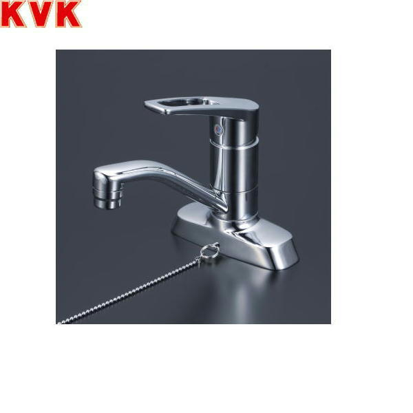 [KM7004T]KVK洗面用シングルレバー混合水栓[一般地仕様][ゴム栓なし][送料無料]