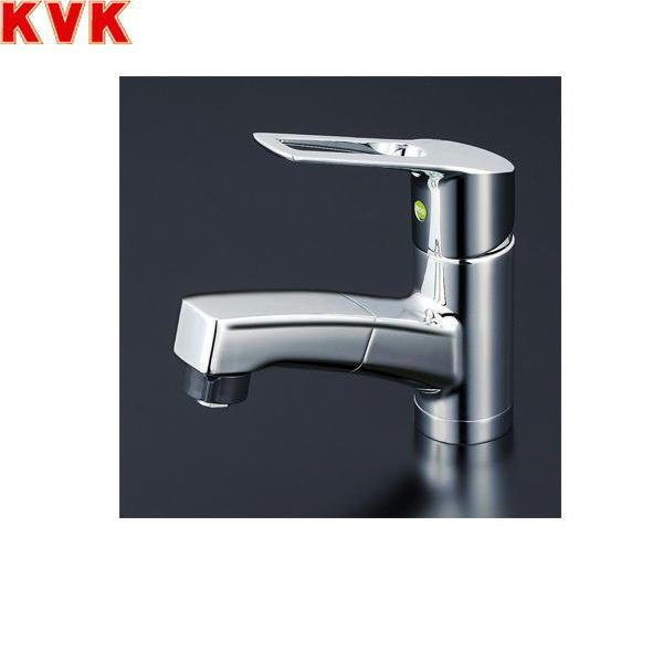 送料込 OUTLET SALE KVK-KM8001TFEC 超人気 KM8001TFEC 送料無料 一般地仕様 KVK洗面用シングルレバー式シャワー混合水栓