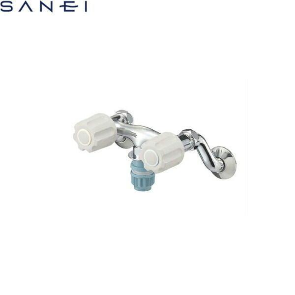 三栄水栓[SAN-EI]ツーバルブ洗濯機用混合栓K1311TV-LH[一般地仕様][送料無料]