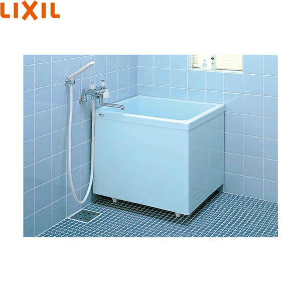 [PB-762CSM/410]リクシル[LIXIL/INAX]ポリーナ浴槽[FRP製・760サイズ][巻フタ付][三方全エプロン][送料無料]