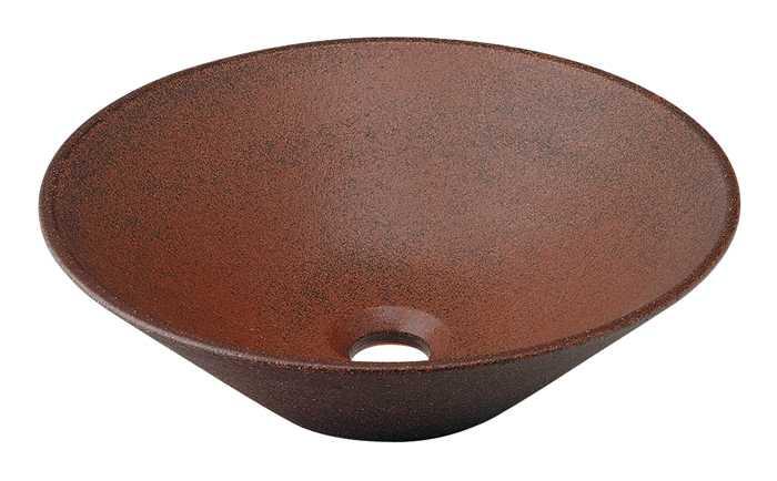 カクダイ[KAKUDAI]丸型手洗器493-037-M(窯肌)