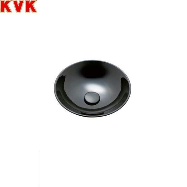 [KV92A]KVK手洗器[美術工芸手洗鉢][黒グロス/プレーン]【送料無料】
