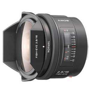 【納期約7~10日】【お一人様1台限り】SAL16F28【送料無料】[SONY ソニー] デジタル一眼カメラα用レンズ 16mm F2.8 Fisheye