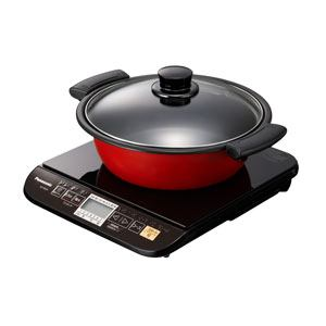 【納期約2週間】KZ-PG33-K 【送料無料】[Panasonic パナソニック] 卓上型IH調理器 1口・専用なべ付属 KZPG33K