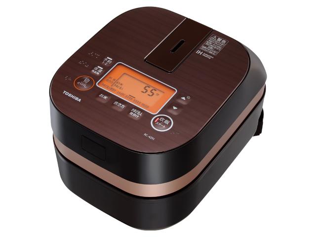 【納期約7~10日】RC-4ZPJ(T) 【送料無料】[TOSHIBA 東芝] IHジャー炊飯器 IHかまど炊飯器 グランブラウン RC4ZPJT