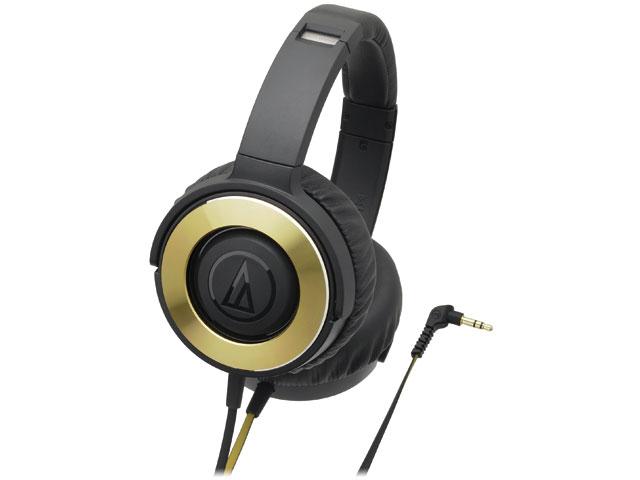 ATH-WS550 BGD ブラックゴールド [audio-technica オーディオテクニカ] ポータブルヘッドホン SOLID BASS ATHWS550BGD