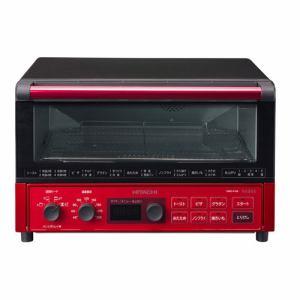 【納期約3週間】HMO-F100-R 【送料無料】HITACHI 日立 コンベクションオーブントースター メタリックレッド HMOF100R