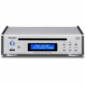 PD-301-S 【送料無料】TEAC ティアック USB搭載ワイドFM対応CDプレーヤー シルバー PD301S