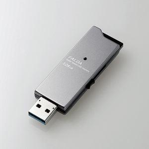 ★★【納期約1~2週間】ELECOM エレコム MF-DAU3128GBK 高速USB3.0メモリ(スライドタイプ) 128GB ブラック MFDAU3128GBK