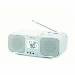 【納期約4週間】CFD-S401-WC[SONY ソニー] ワイドFM対応 CDラジオカセットレコーダー ホワイト CFDS401WC