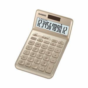 【納期約7~10日】CASIO カシオ JF-S200-GD-N スタイリッシュ電卓(12桁) ゴールド JFS200GDN