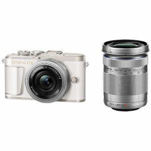 【納期約7~10日】【お一人様1台限り】【代引き不可】EPL9-WKIT-WHT Olympus オリンパス デジタル一眼カメラ「OLYMPUS PEN E-PL9」EZダブルズームキット ホワイト EPL9WKITWHT