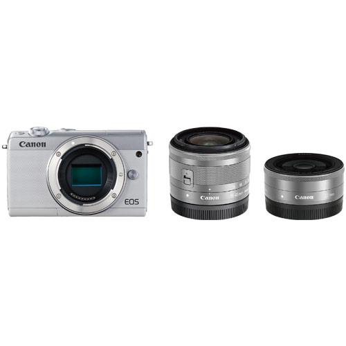【納期約1~2週間】【お一人様1台限り】EOSM100WH-WLK canon キヤノン ミラーレスカメラ「EOS M100」ダブルレンズキット(ホワイト) EOSM100WHWLK