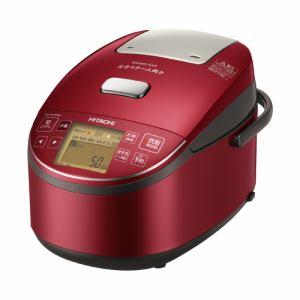 【納期約7~10日】日立 RZ-BV100M-R 圧力スチームIH炊飯器 5.5合炊き ふっくら御膳 メタリックレッド RZBV100M R