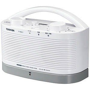 【納期約7~10日】TOSHIBA 東芝 TY-WSD11-W 防水対応テレビ用ワイヤレススピーカーシステム(送信機と受信機のセット) TYWSD11W