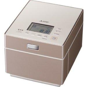 【納期約1~2週間】MITSUBISHI 三菱 NJ-XS108J-P 蒸気レス IH炊飯器 備長炭 炭炊釜 テンダーロゼ 5.5合炊き NJXS108JP