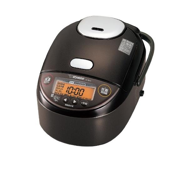 【納期約2週間】ZOJIRUSHI 象印 ZOJIRUSHI NP-ZU10-TD 炊飯器 極め炊き ダークブラウン 5.5合 圧力IH NPZU10TD