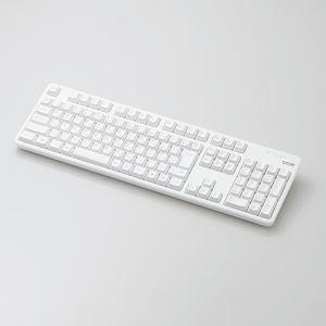【納期約7~10日】★★ELECOM エレコム TK-FDM106TWH 無線フルキーボード ホワイト TKFDM106TWH