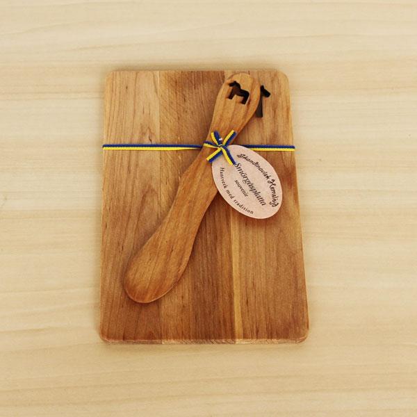 木製 カッティングボード&バターナイフセットホース(馬)