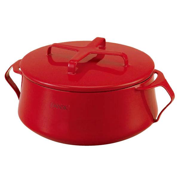 DANSK(ダンスク) ホーロー鍋シリーズコベンスタイル2 ホーロー両手鍋18cm赤 6309454