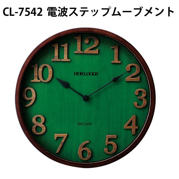 【お買い物マラソン期間中 ポイント10倍 5/18 1:59迄】England(イングラド) 掛け時計 CL-7542【送料無料】日本メーカー製電波ステップムーブメント