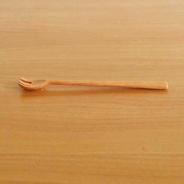シンプルな木製食器 永遠の定番 \5本までネコポス可 籐芸 ナチュレ 絶品 Sサイズ サオ フォークマドラー