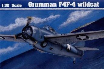 1/32 トランペッター 米海軍 グラマン F4F-4 ワイルドキャット