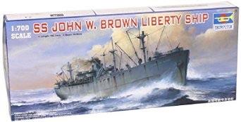 1/700 トランペッター  アメリカ海軍 リバティシップ ジョン W ブラウン